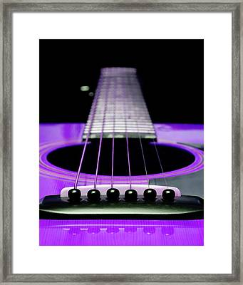 Purple Guitar 15 Framed Print by Andee Design