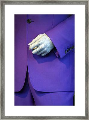 Purple Hand Purple Hand Framed Print by Jez C Self