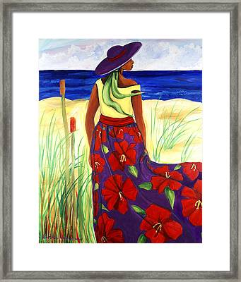 Framed Print featuring the painting Purple Hat by Diane Britton Dunham