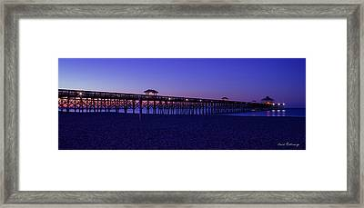 Purple Haze Folly Beach Pier Sunrise Charleston Sc Framed Print