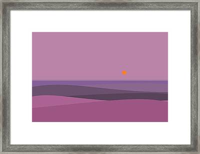 Purple Haze - Orange Sun Framed Print