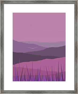Purple Haze - Purple Hills Framed Print by Val Arie