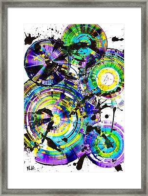 Purple Haze Spheres And Circles 1509.021413 Framed Print