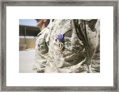 Purple Heart Recipients Framed Print by Stocktrek Images