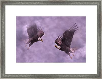 Purple Hearts Framed Print