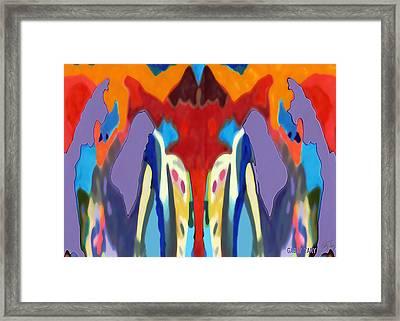 Purple Hoodies Framed Print