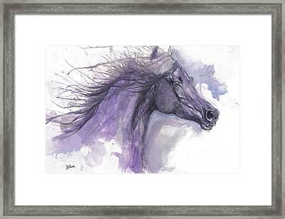 Purple Horse 2017 07 26 Framed Print