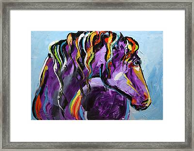 Purple Horse Framed Print