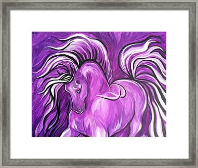 Purple Horse Framed Print by Leni Tarleton