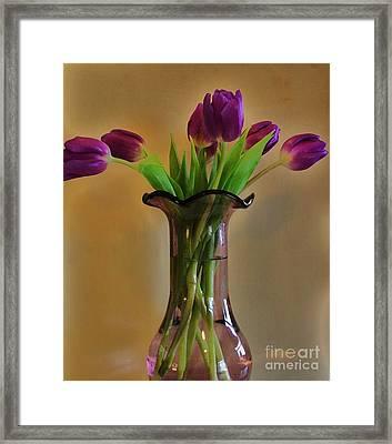 Purple In Purple Framed Print by Marsha Heiken