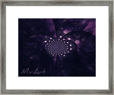 Framed Print featuring the photograph Purple Intrigue by Miriam Shaw