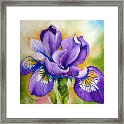 Purple Iris Wildflower Framed Print
