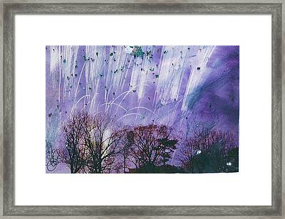 Purple Is The Color Of My True Love's Air Framed Print by Anne-Elizabeth Whiteway