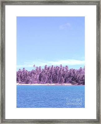 Purple Island Framed Print by Barbara Marcus