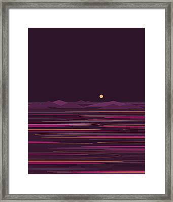 Purple Isle Framed Print by Val Arie
