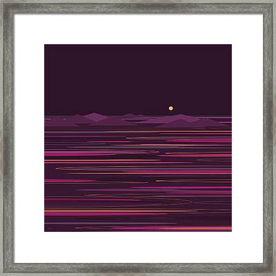 Purple Isles Framed Print by Val Arie