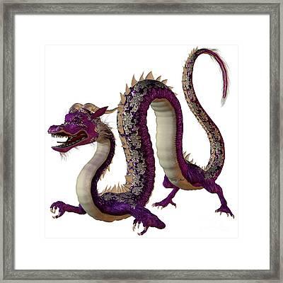 Purple Jewel Dragon Framed Print by Corey Ford