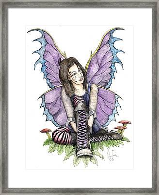 Purple Laces Framed Print by Preston Shupp