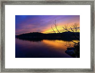 Purple Lake Framed Print