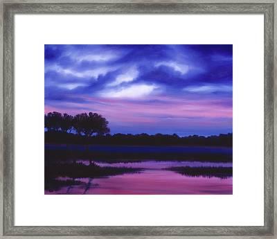 Purple Landscape Or Jean's Clearing Framed Print