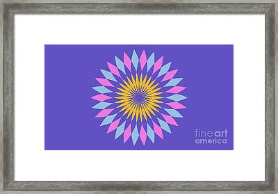 Purple Landscape Framed Print by Pablo Franchi