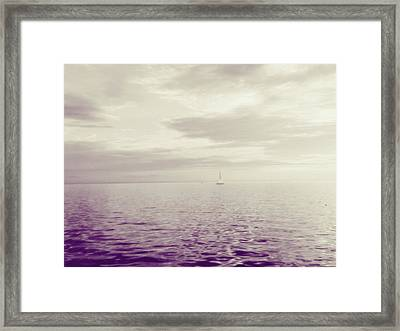 Purple Light Framed Print