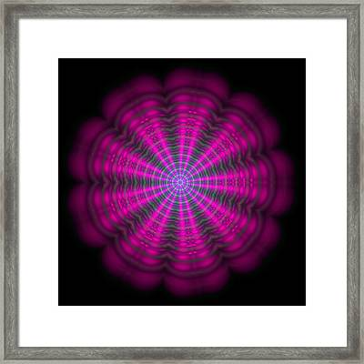 Purple Lightmandala Ripples Framed Print
