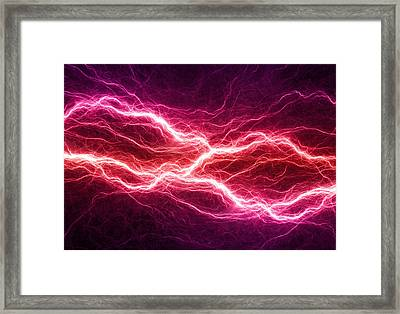 Purple Lightning Framed Print