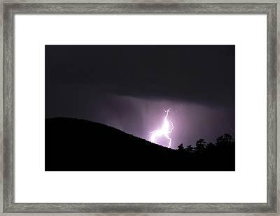 Purple Lightning Framed Print by Matthew Fredricey