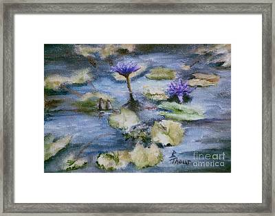 Framed Print featuring the painting Purple Lily by Brenda Thour
