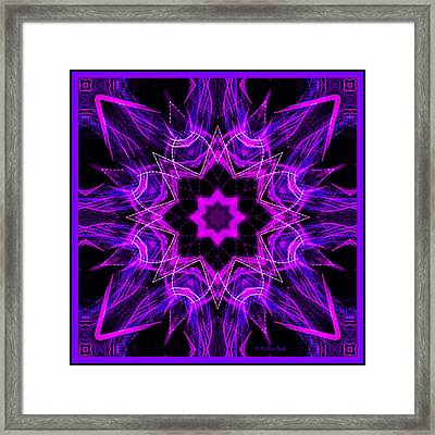 Framed Print featuring the photograph Purple Lines by Barbara MacPhail