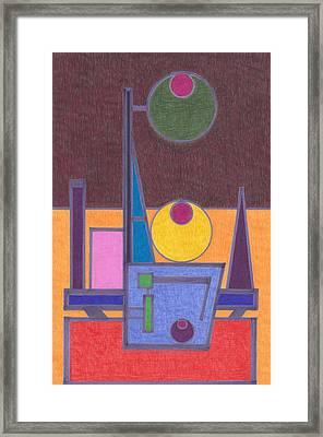 Purple Lines Framed Print by Brian Kane