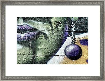 Purple Lips And Earring Framed Print