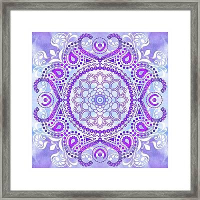 Purple Lotus Mandala Framed Print by Tammy Wetzel
