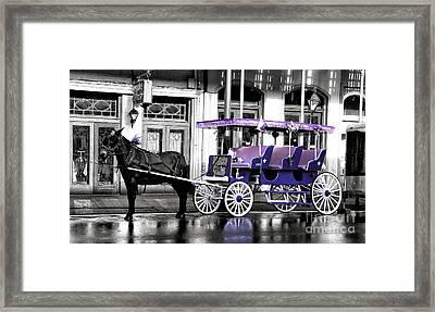 Purple Mardi Gras Carriage Fusion Framed Print by John Rizzuto