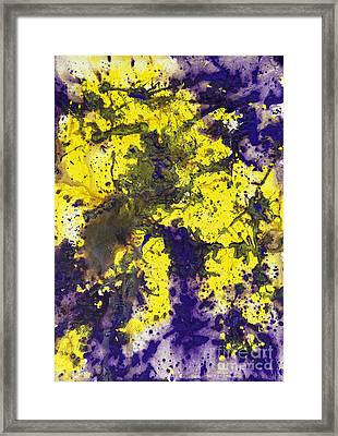 Purple Married Yellow Framed Print
