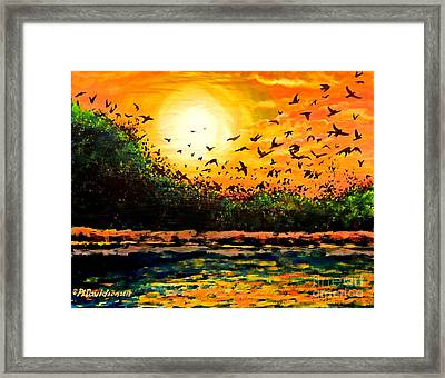 Purple Martin Migration Framed Print