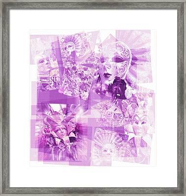 Framed Print featuring the photograph Purple Mask Craziness by Amanda Eberly-Kudamik