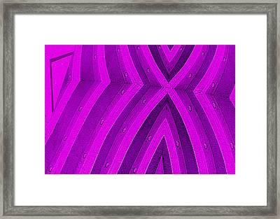 Purple Maze Framed Print by Paul Wear