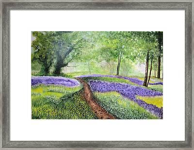 Purple Meadow Framed Print