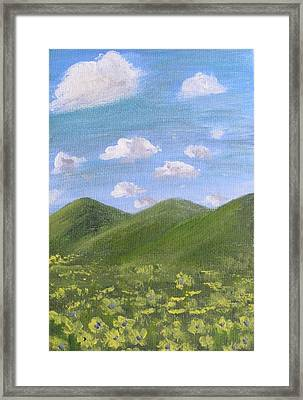 Framed Print featuring the painting Purple Middles by Trilby Cole