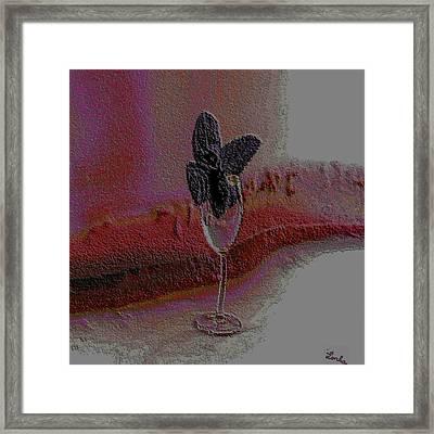 Purple Mint Framed Print
