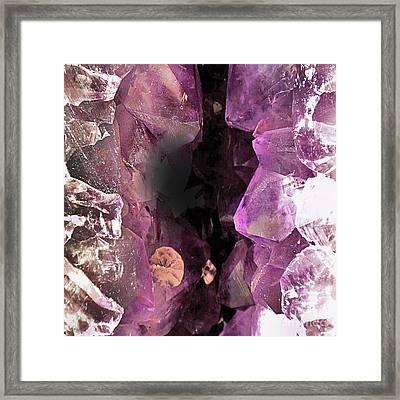 Purple Modern Abstract Design Framed Print by Rebecca Lemke