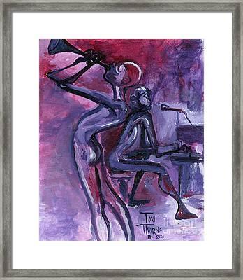 Purple Mood Framed Print by Toni  Thorne