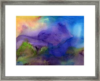Purple Moon Framed Print by Stephanie  Jolley