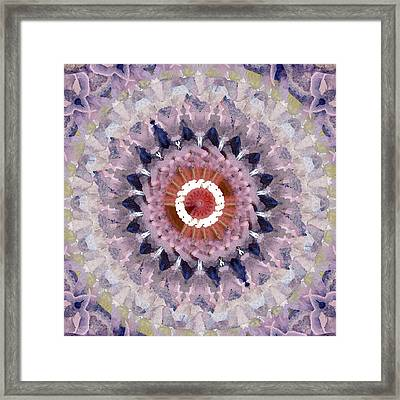 Purple Mosaic Mandala - Abstract Art By Linda Woods Framed Print