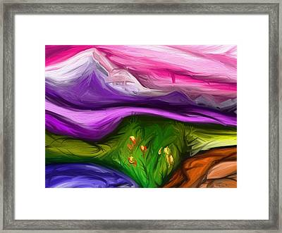 Purple Mountain Framed Print