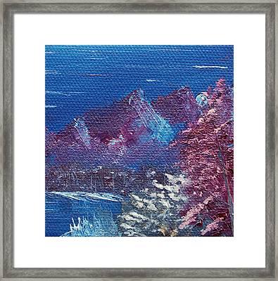 Purple Mountain Landscape Framed Print by Jera Sky