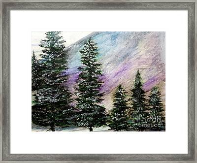 Purple Mountain Majesty Framed Print by Scott D Van Osdol