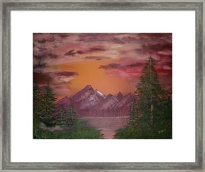 Purple Mountain Framed Print by Mikki Alhart